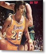 Los Angeles Lakers Gail Goodrich... Sports Illustrated Cover Metal Print