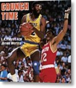 Los Angeles Lakers James Worthy, 1986 Nba Western Sports Illustrated Cover Metal Print