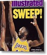 Los Angeles Lakers James Worthy, 1989 Nba Western Sports Illustrated Cover Metal Print