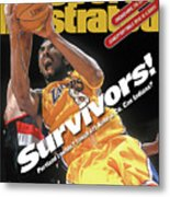 Los Angeles Lakers Kobe Bryant, 2000 Nba Western Conference Sports Illustrated Cover Metal Print
