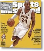 Los Angeles Lakers Kobe Bryant... Sports Illustrated Cover Metal Print