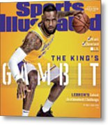 Los Angeles Lakers LeBron James, 2018-19 Nba Basketball Sports Illustrated Cover Metal Print
