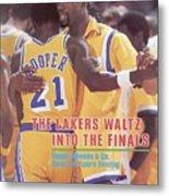 Los Angeles Lakers Magic Johnson, 1982 Nba Western Sports Illustrated Cover Metal Print