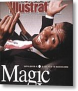 Los Angeles Lakers Magic Johnson Sports Illustrated Cover Metal Print