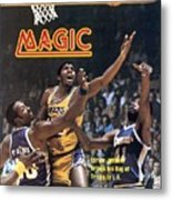 Los Angeles Lakers Magic Johnson... Sports Illustrated Cover Metal Print