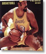 Los Angeles Lakers Wilt Chamberlain, 1972 Nba Western Sports Illustrated Cover Metal Print