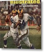 Los Angeles Rams Jon Arnett And Roy Hord Sports Illustrated Cover Metal Print