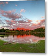 Lost Lake Sunset Metal Print