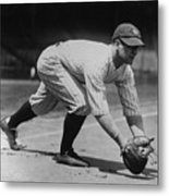 Lou Gehrig At First Metal Print