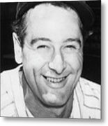 Lou Gehrig Close Portrait Metal Print