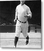 Lou Gehrig Working Out Metal Print
