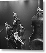 Louis Armstrong On Stage Metal Print