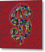 Louis Vuitton Dollar Sign-7 Metal Print