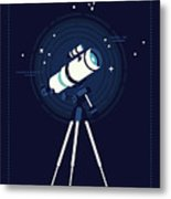 Lovely Vector Background On Astronomy Metal Print