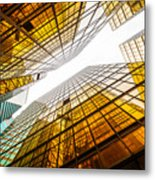 Low Angle View Of Modern Skyscraper Metal Print