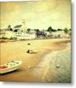 Low Tide Provincetown Cape Cod Massachusetts Shoreline Textured Metal Print