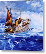 Lowestoft Trawler Metal Print