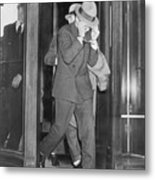 Lucky Luciano Entering Courthouse Metal Print