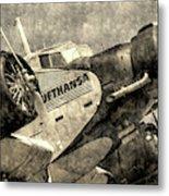 Lufthansa Junkers Ju 52 Vintage Metal Print