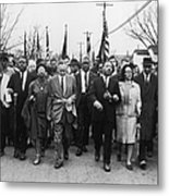 Luther King Marches Metal Print