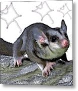 M Is For Mahogany Glider Metal Print