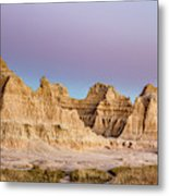 magenta Dawn in the Badlands  Metal Print