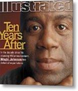 Magic Johnson, Basketball Sports Illustrated Cover Metal Print
