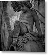 Magnolia Child Statue Metal Print