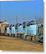 Main Street Lancaster Train Metal Print