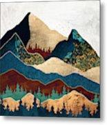 Malachite Mountains Metal Print