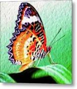 Malay Lacewing Butterfly II Metal Print