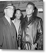 Malcolm X Left With Cassius Marcellus Metal Print