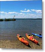 Mallows Bay And Kayaks Metal Print