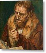 Man Reading 1922 Metal Print