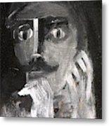 Man With A Handlebar Moustache Metal Print