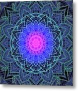 Mandala Love Metal Print