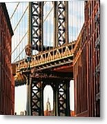 Manhattan Bridge, Brooklyn, New York Metal Print