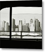 Manhattan Through Car Window Metal Print