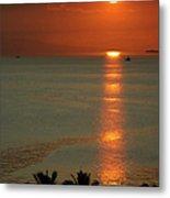 Manila Bay Sunset Metal Print