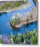 Manistee River Bend From Above Metal Print