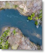 Manistee River From Above Metal Print