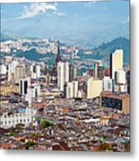 Manizales City View, Colombia Metal Print