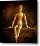 Mannequins On A Wooden Box Metal Print