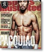 Manny Pacquiao, 2015 Wbawbcwbo Welterweight Title Preview Sports Illustrated Cover Metal Print