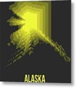 Map Of Alaska Metal Print