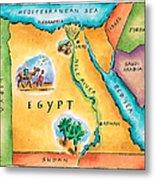Map Of Egypt Metal Print