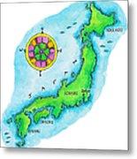 Map Of Japan Metal Print