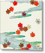 Maple Leaf - Japanese Traditional Pattern Design Metal Print