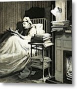 Marcel Proust Sat In Bed Writing Remembrance Of Things Past Metal Print