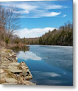 March Morning At Sanctuary Pond Metal Print